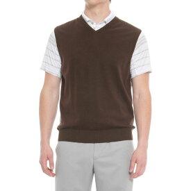 ボビージョーンズ Bobby Jones メンズ ゴルフ ノースリーブ トップス【Players Golf Vest - Pima Cotton】Dark Brown