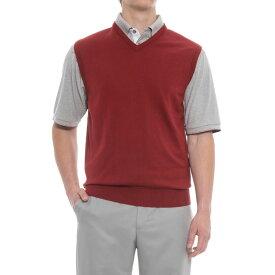 ボビージョーンズ Bobby Jones メンズ ゴルフ ノースリーブ トップス【Players Golf Vest - Pima Cotton】Cranberry