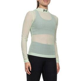 アンダーアーマー Under Armour レディース トップス 【Off-Season Mock Neck Shirt - Long Sleeve】Phosphor Green