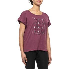 アンダーアーマー Under Armour レディース Tシャツ トップス【MFO Graphic Shadow Box Print T-Shirt - Short Sleeve】Level Purple