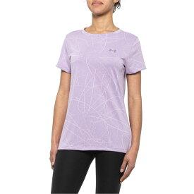 アンダーアーマー Under Armour レディース トップス 【Tech Defense Jacquard Shirt - Short Sleeve】Purple Ace