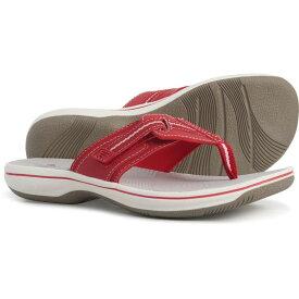 クラークス Clarks レディース ビーチサンダル シューズ・靴【Cloudsteppers Brinkley Jazz Flip-Flops】Red