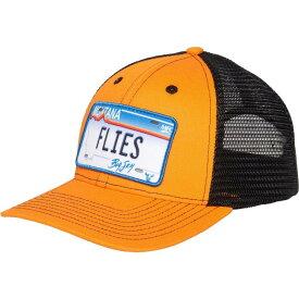 モンタナフライ Montana Fly Company ユニセックス キャップ トラッカーハット 帽子【MFC Flies Trucker Hat】Hot Orange