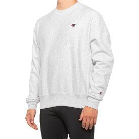 チャンピオン Champion メンズ ヨガ・ピラティス トップス【Reverse-Weave Fleece Sweatshirt】Gfs Silver Grey