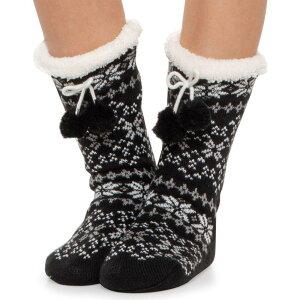 コロンビア Columbia Sportswear レディース スリッパ シューズ・靴【Fair Isle Slipper Bootie Socks】Black