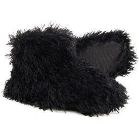ナインウエスト Nine West レディース スリッパ シューズ・靴【Fluffy Pile Bootie Slippers】Black