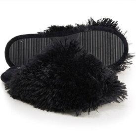 ナインウエスト Nine West レディース スリッパ シューズ・靴【Fluffy Pile Scuff Slippers】Black