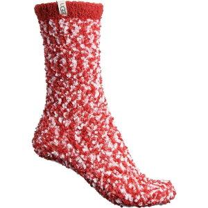 アグ UGG Australia レディース スリッパ シューズ・靴【Cozy Chenille Slipper Socks - Crew】Poppy Red