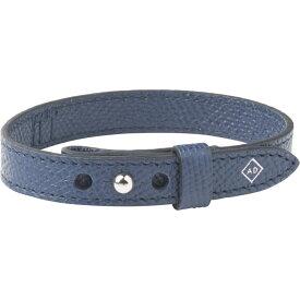 ダンヒル Alfred Dunhill メンズ ブレスレット ジュエリー・アクセサリー【made in italy leather bracelet】Navy