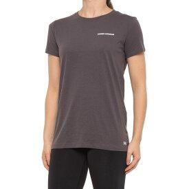 アンダーアーマー Under Armour レディース Tシャツ トップス【heatgear graphic t-shirt - short sleeve】Charcoal