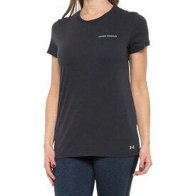 アンダーアーマー Under Armour レディース Tシャツ トップス【heatgear graphic t-shirt - short sleeve】Black