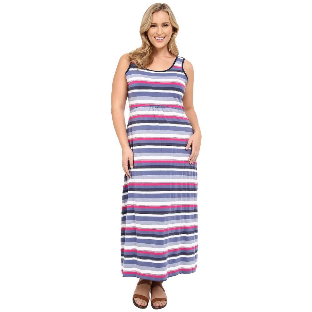 コロンビア レディース ワンピース・ドレス ワンピース【Plus Size Reel Beauty' II Maxi Dress】Bluebell Multi Stripe