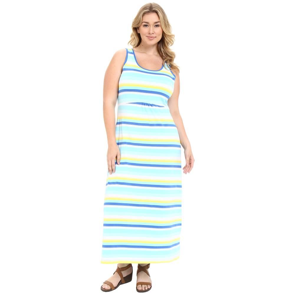 コロンビア レディース ワンピース・ドレス ワンピース【Plus Size Reel Beauty' II Maxi Dress】Coastal Blue Multi Stripe