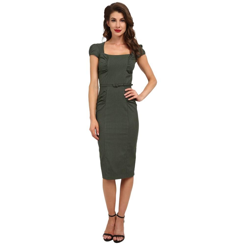 ストップスターリング レディース ワンピース・ドレス ワンピース【Verdant Dress】Olive Houndstooth