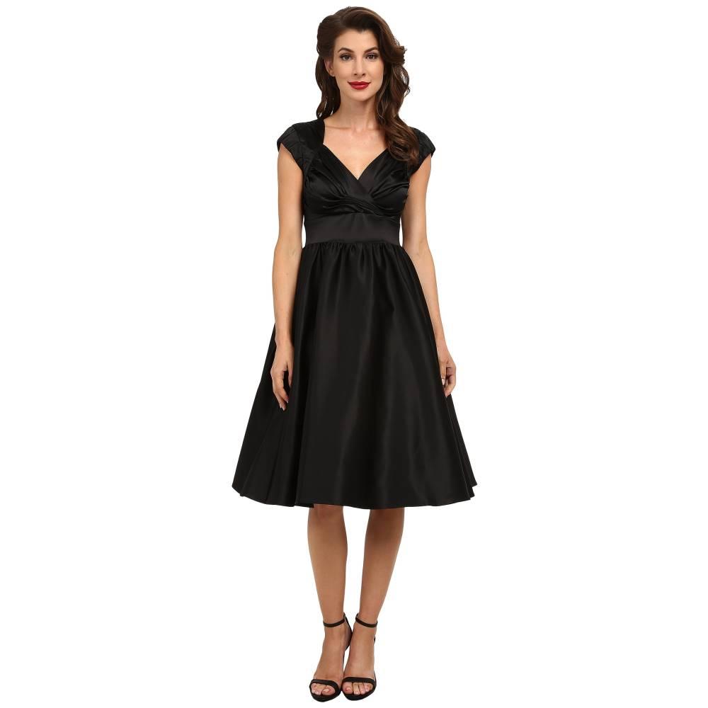 ストップスターリング レディース ワンピース・ドレス ワンピース【Graciela Swing Dress】Black Satin