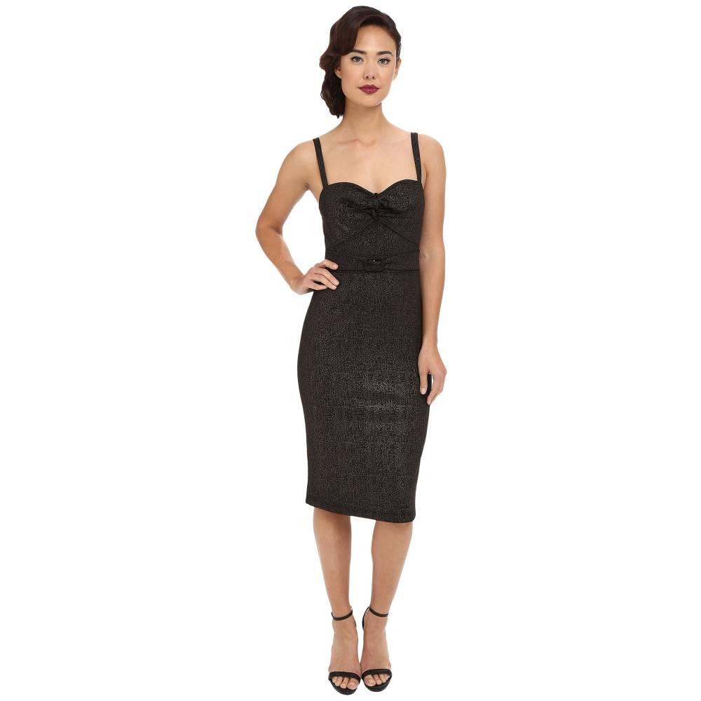 ストップスターリング レディース ワンピース・ドレス ワンピース【Larissa Fitted Dress】Black/Gold