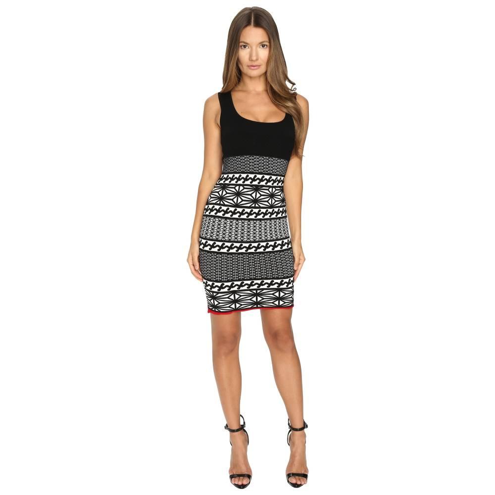 ディースクエアード レディース ワンピース・ドレス ワンピース【Jacquard Sleeveless Dress】Jacquard Black/Off-White/Red