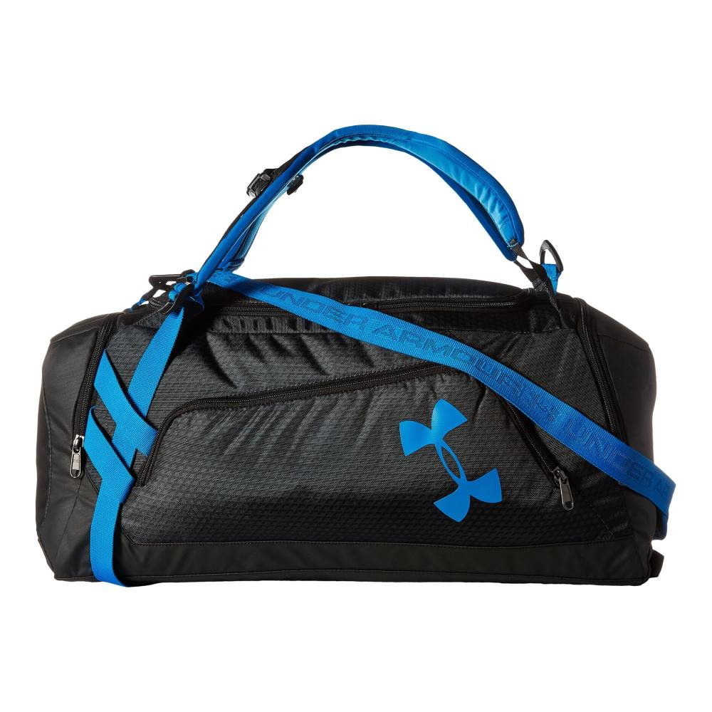 アンダーアーマー Under Armour メンズ バッグ ダッフルバッグ【UA Contain Duo Backpack/Duffel】Black/Stealth Gray/Electric Blue