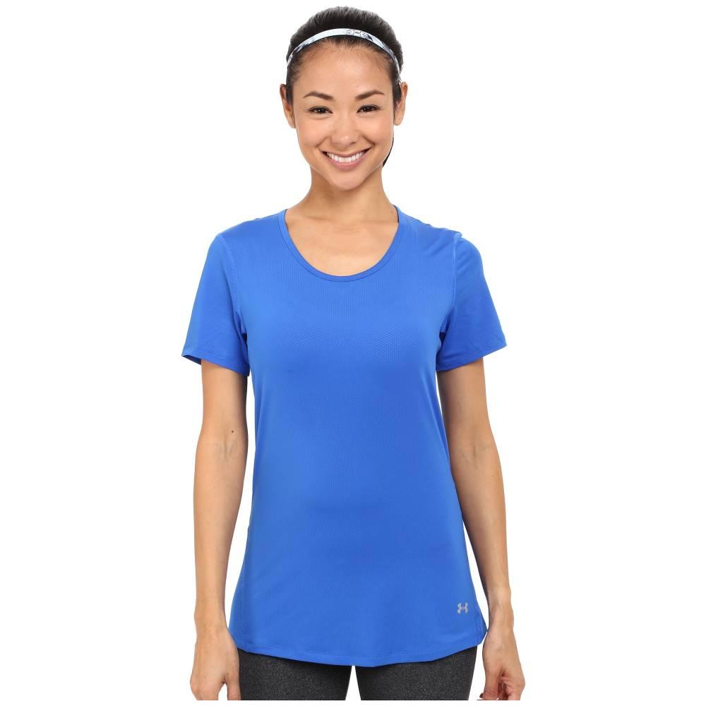 アンダーアーマー レディース トップス Tシャツ【HeatGear Coolswitch Short Sleeve Top】Ultra Blue/Metallic Silver