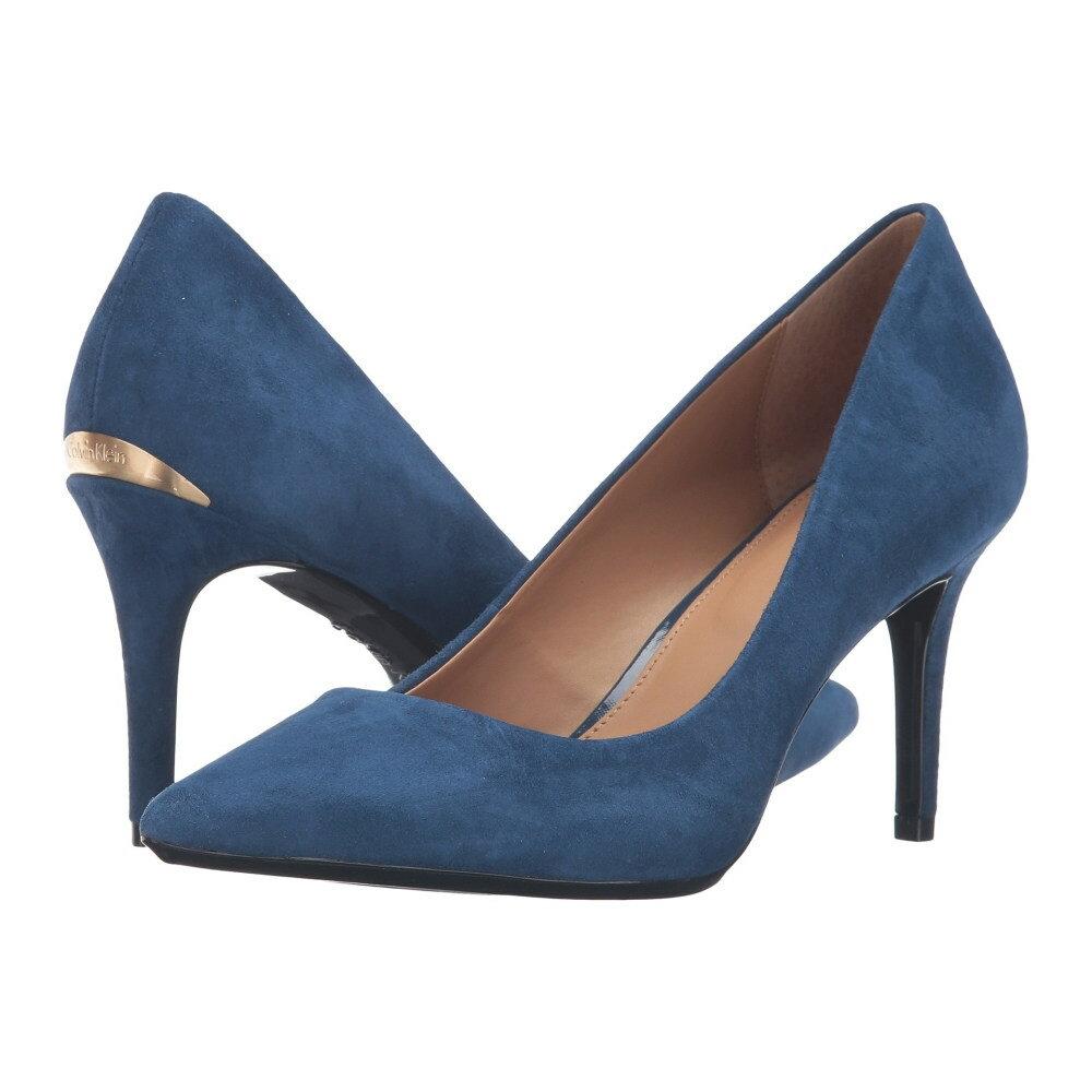 カルバンクライン レディース シューズ・靴 ヒール【Gayle】Marine Blue Suede