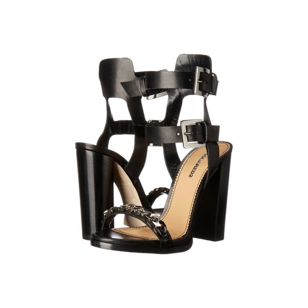 ディースクエアード レディース シューズ・靴 サンダル・ミュール【Sandal】Nero Vacchetta Veg