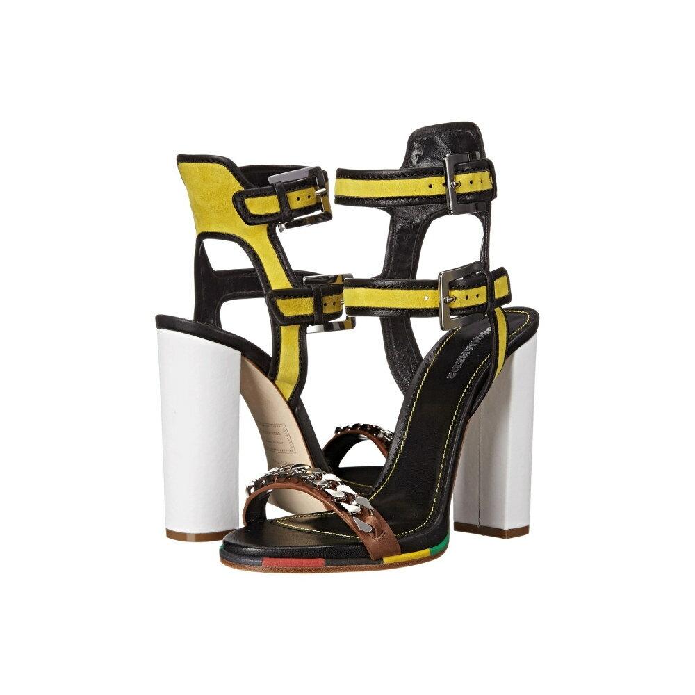 ディースクエアード レディース シューズ・靴 サンダル・ミュール【Sandal】Giallo Nero Camoscio Nappa Vacchetta