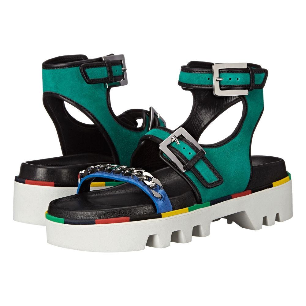 ディースクエアード レディース シューズ・靴 サンダル・ミュール【Flat Sandal】Verde Nero Camoscio Nappa Vacchetta