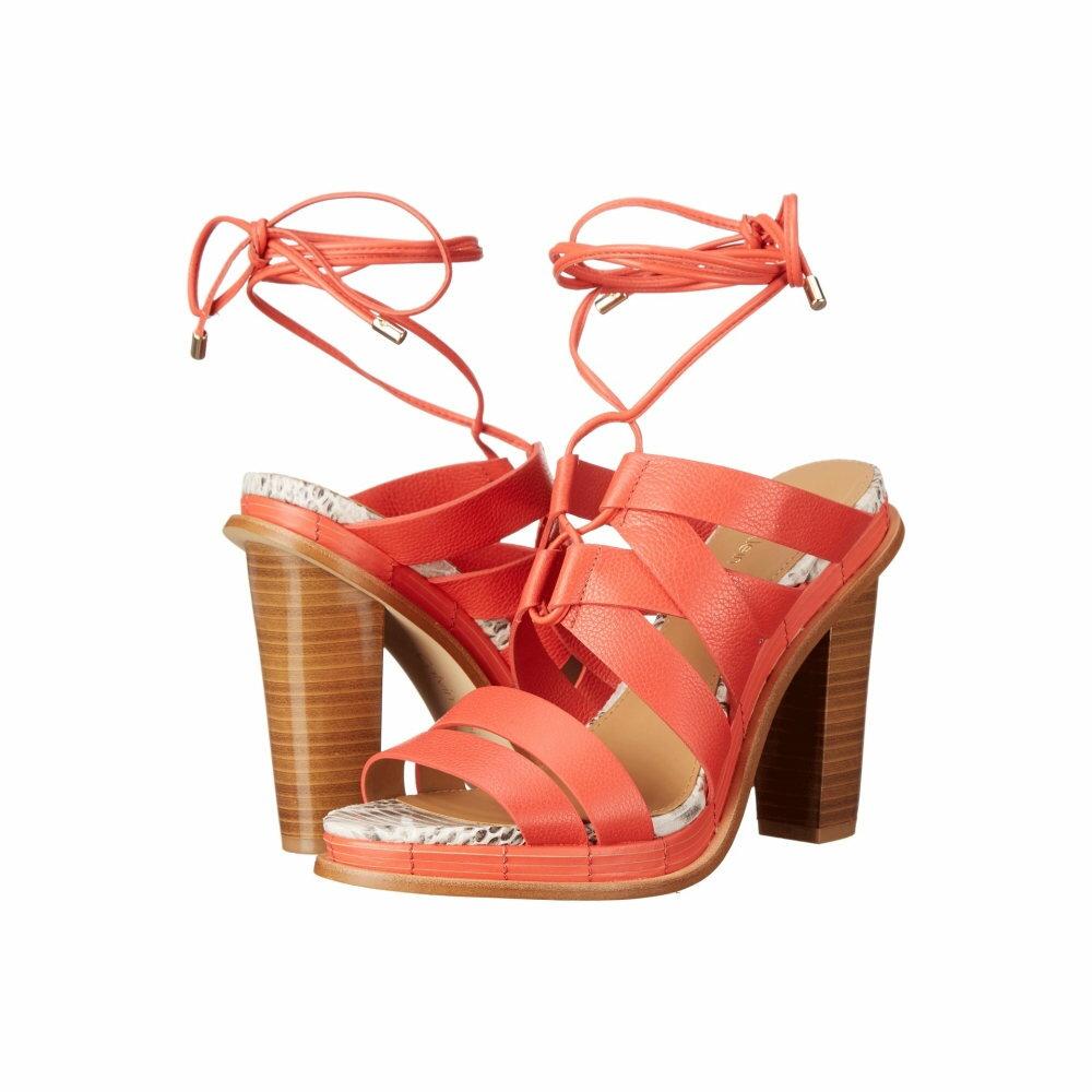 カルバンクライン レディース シューズ・靴 ヒール【Panelope】Deep Coral Toscana Leather