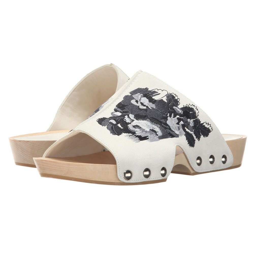 アレキサンダー マックイーン レディース シューズ・靴 サンダル・ミュール【Sandal Pelle S.Gomma】Silk White 161/Black
