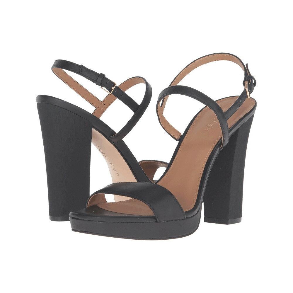 カルバンクライン レディース シューズ・靴 ヒール【Bambii】Black Leather