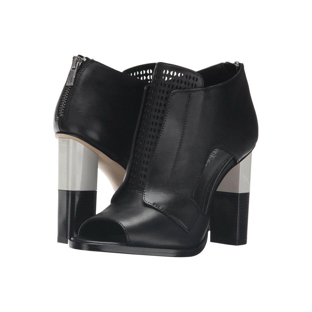 カルバンクライン レディース シューズ・靴 ヒール【Kissa】Black Leather