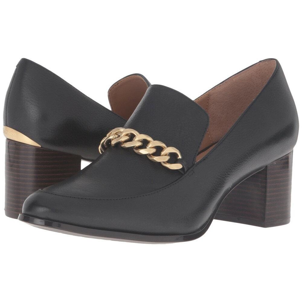 カルバンクライン レディース シューズ・靴 ヒール【Finney】Black Waxy Tumbled Leather