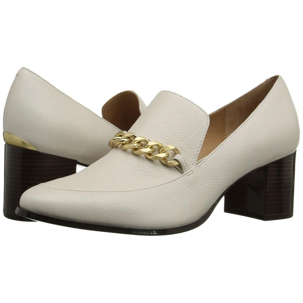 カルバンクライン レディース シューズ・靴 ヒール【Finney】Soft White Waxy Tumbled Leather