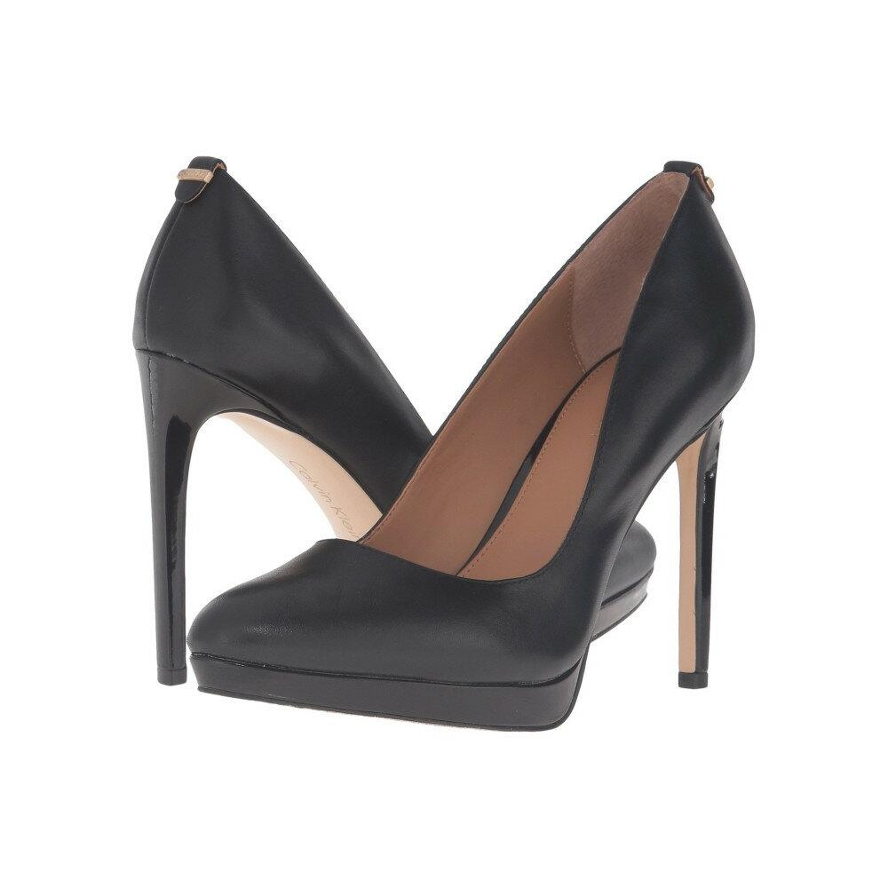 カルバンクライン レディース シューズ・靴 ヒール【Suzzanne】Black Leather