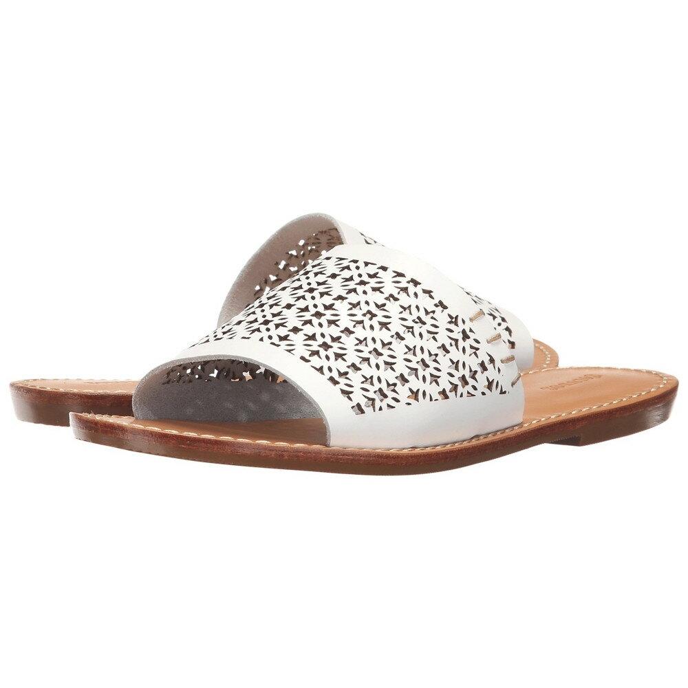 ソルドス レディース シューズ・靴 サンダル・ミュール【Slide Sandal】White Leather