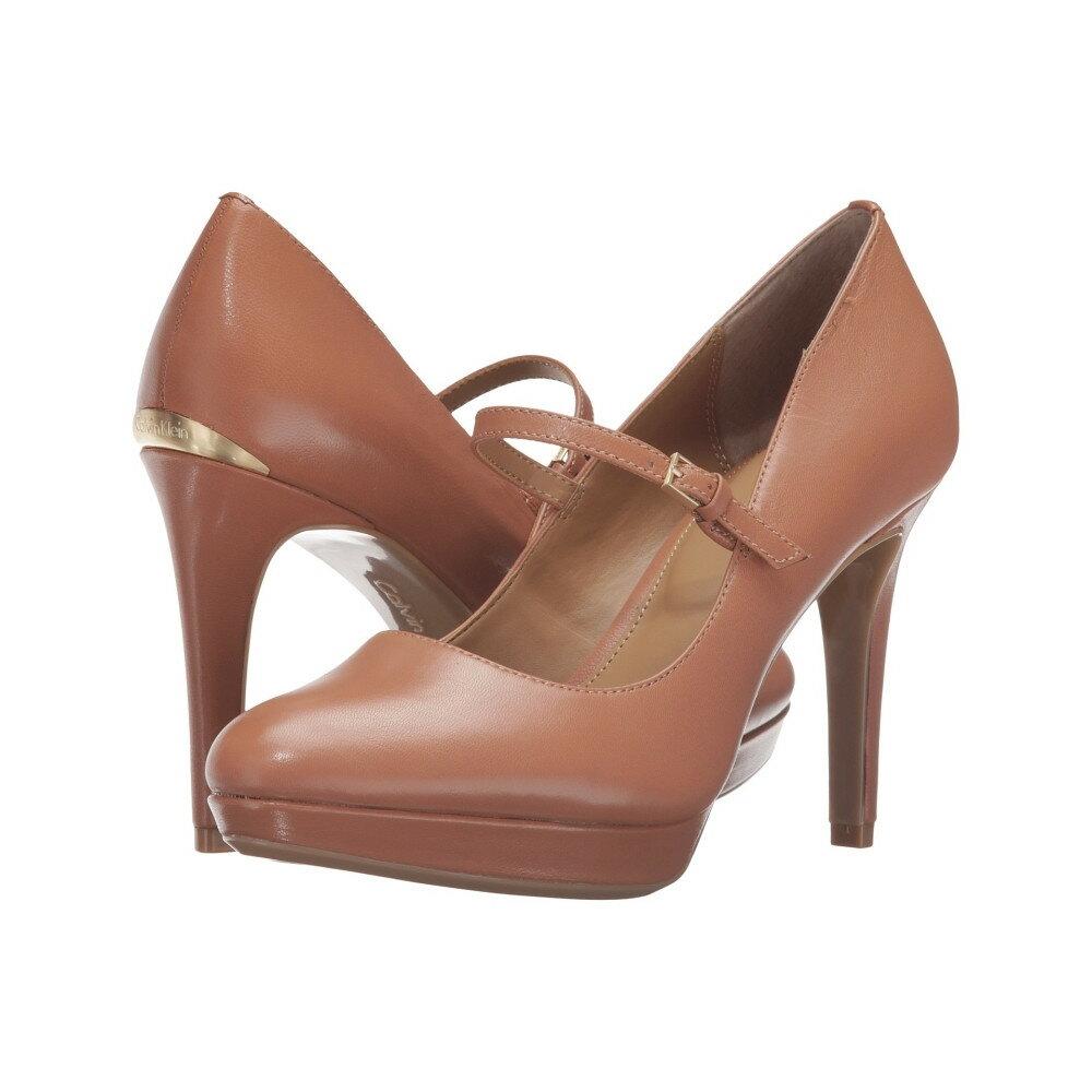 カルバンクライン レディース シューズ・靴 ヒール【Paislie】Caramel Leather
