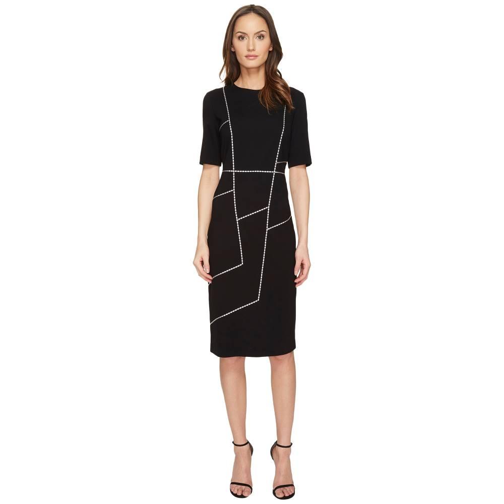 エスカーダ レディース ワンピース・ドレス ワンピース【Dlacet Short Sleeve Dress】Black