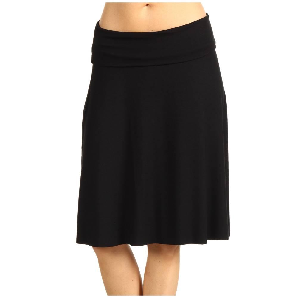 スリードッツ レディース スカート【Fold-Over Skirt】Black