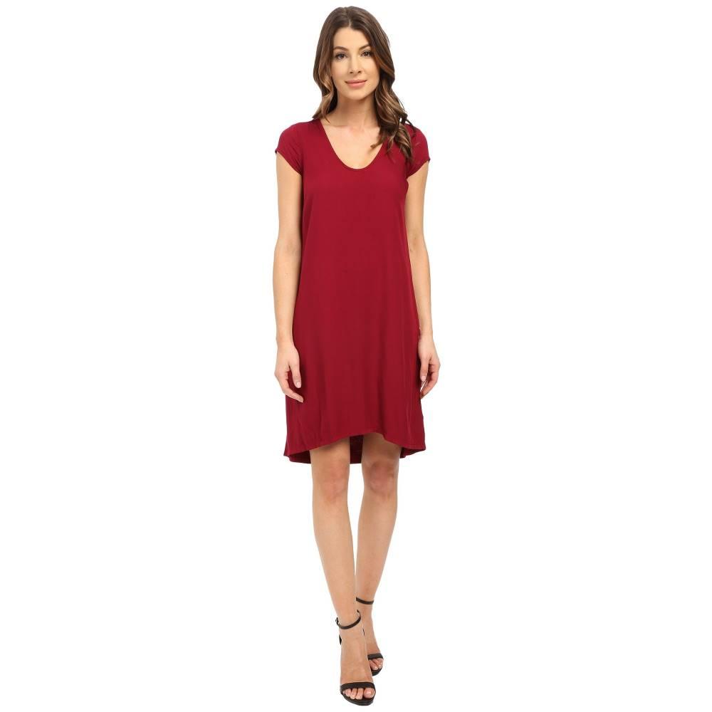 スリードッツ レディース ワンピース・ドレス ワンピース【Sally Cap Sleeve Dress】Plum Berry