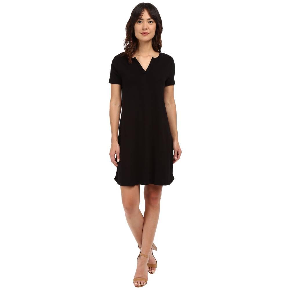 スリードッツ レディース ワンピース・ドレス ワンピース【Cheryl Short Sleeve Dress】Black