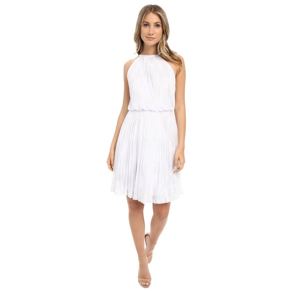 カルバンクライン レディース ワンピース・ドレス ワンピース【Halter Neck Pleated Dress CD6B1U3P】White