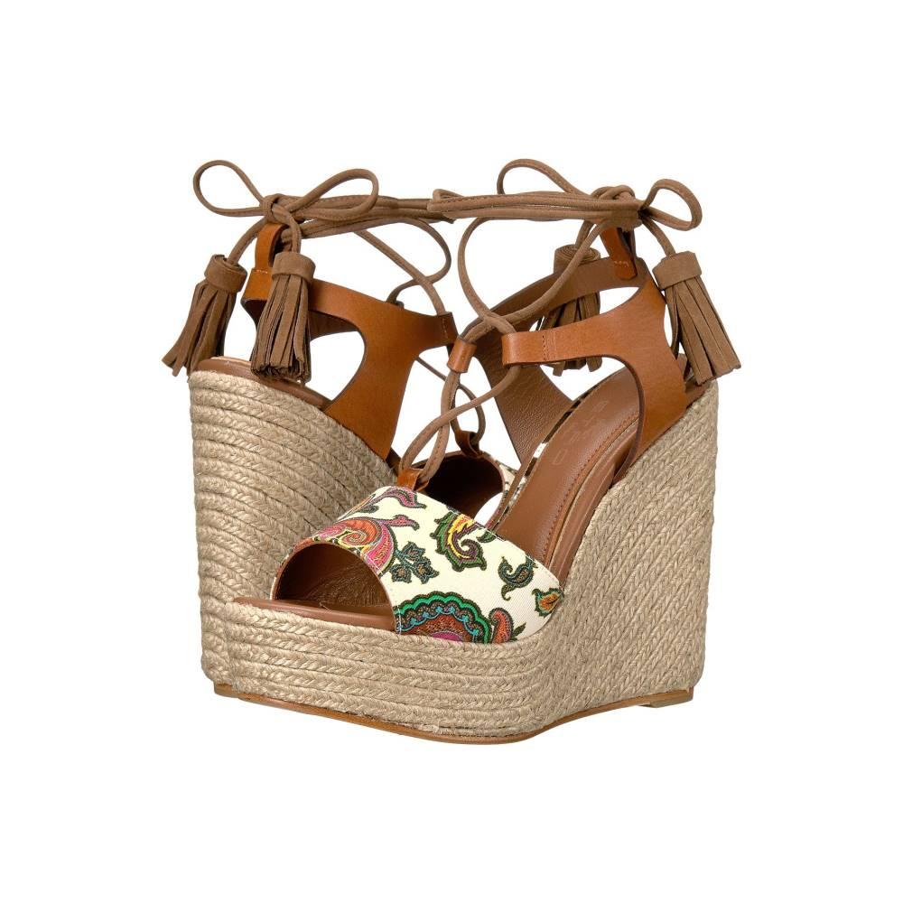 エトロ レディース シューズ・靴 サンダル・ミュール【Paisley Wedge Sandal】Cuoio