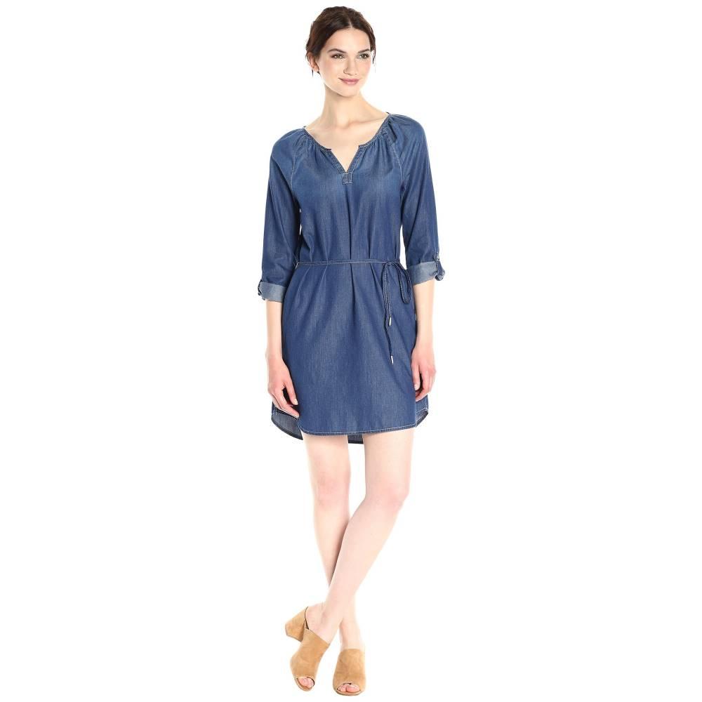 カルバンクライン レディース ワンピース・ドレス ワンピース【Mid Modern Boho Denim Dress】Mackenzie Mid Wash