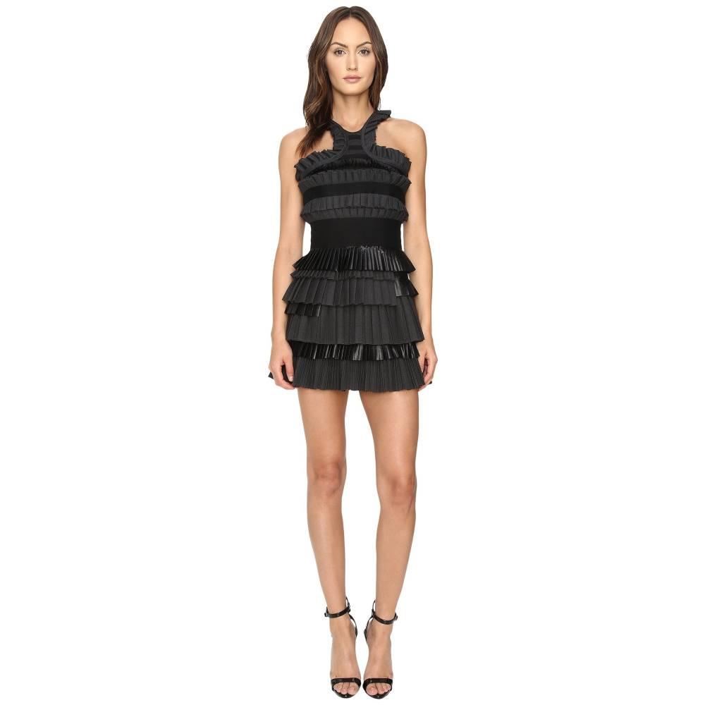 ディースクエアード レディース ワンピース・ドレス ワンピース【Mix Fabrics Pleated Dress】Black/Grey