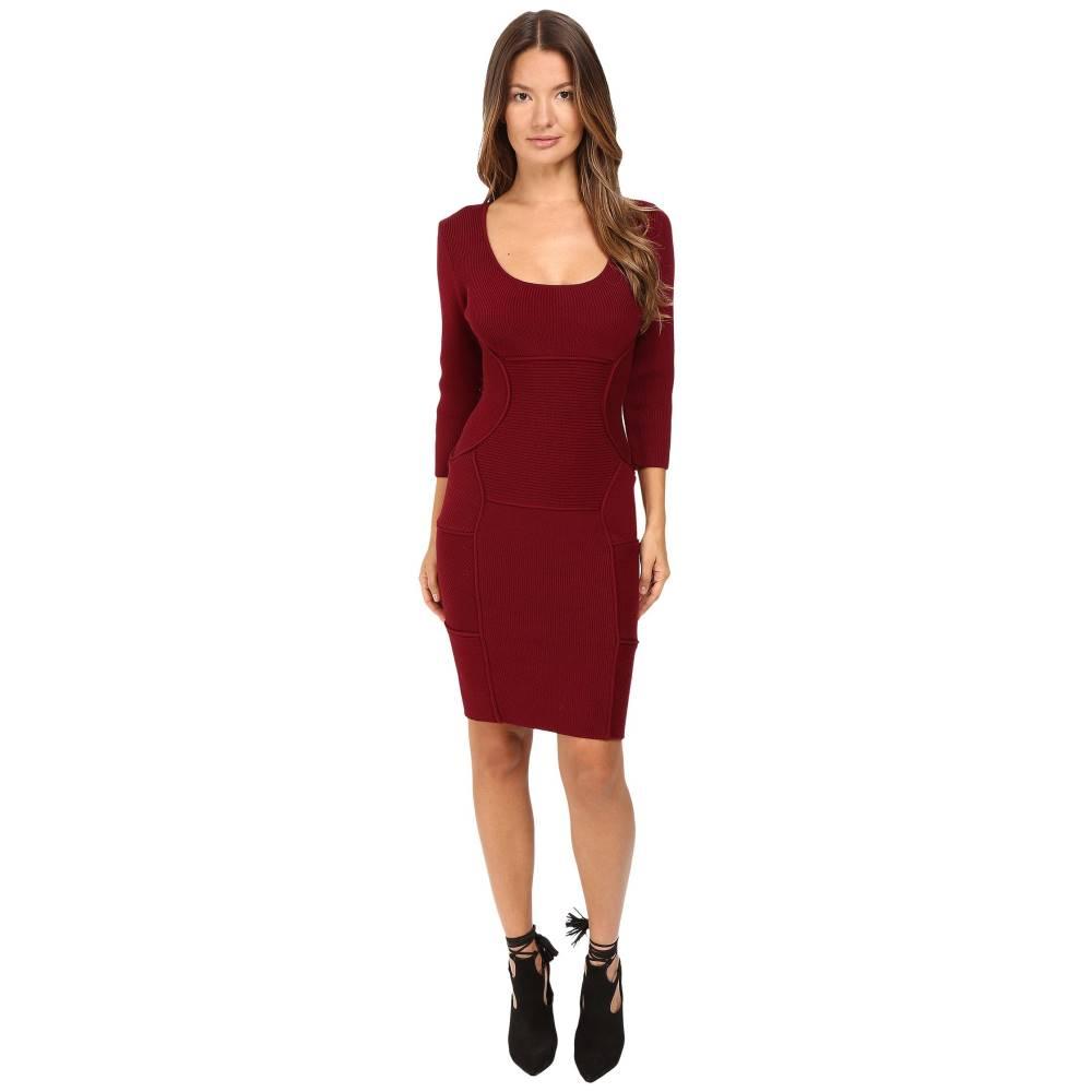 ディースクエアード レディース ワンピース・ドレス ワンピース【Bodycon Long Sleeve Dress】Bordeaux
