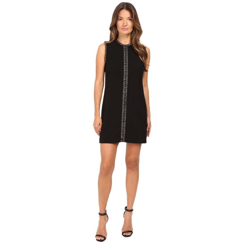 ディースクエアード レディース ワンピース・ドレス ワンピース【Stretch Wool Chaine Embroidery Sleeveless Mini Dress】Black