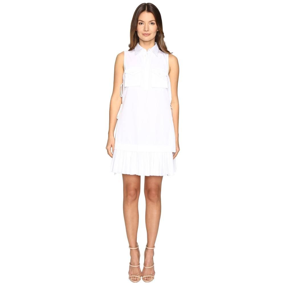 ディースクエアード レディース ワンピース・ドレス ワンピース【Open Sides Military Chemisier Dress】White