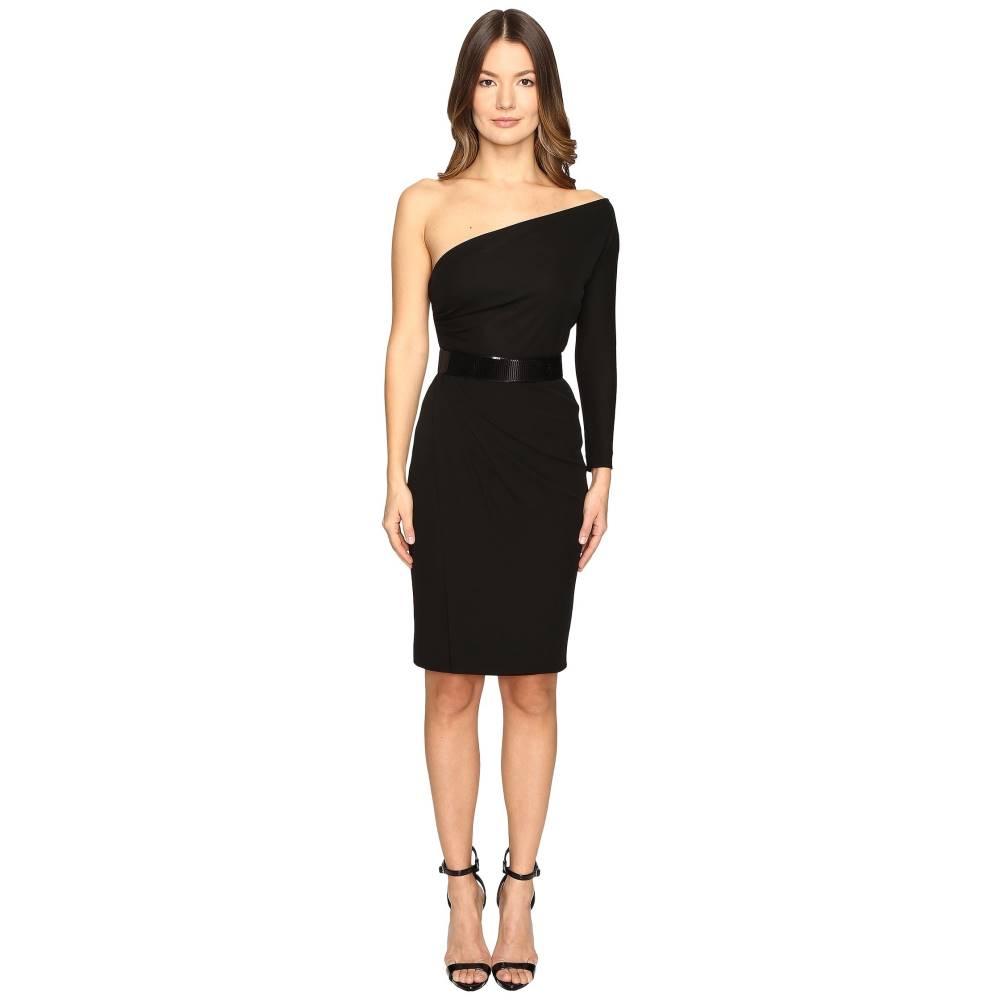 ディースクエアード レディース ワンピース・ドレス ワンピース【Viscose One Shoulder Long Sleeve Crepe Dress】Black