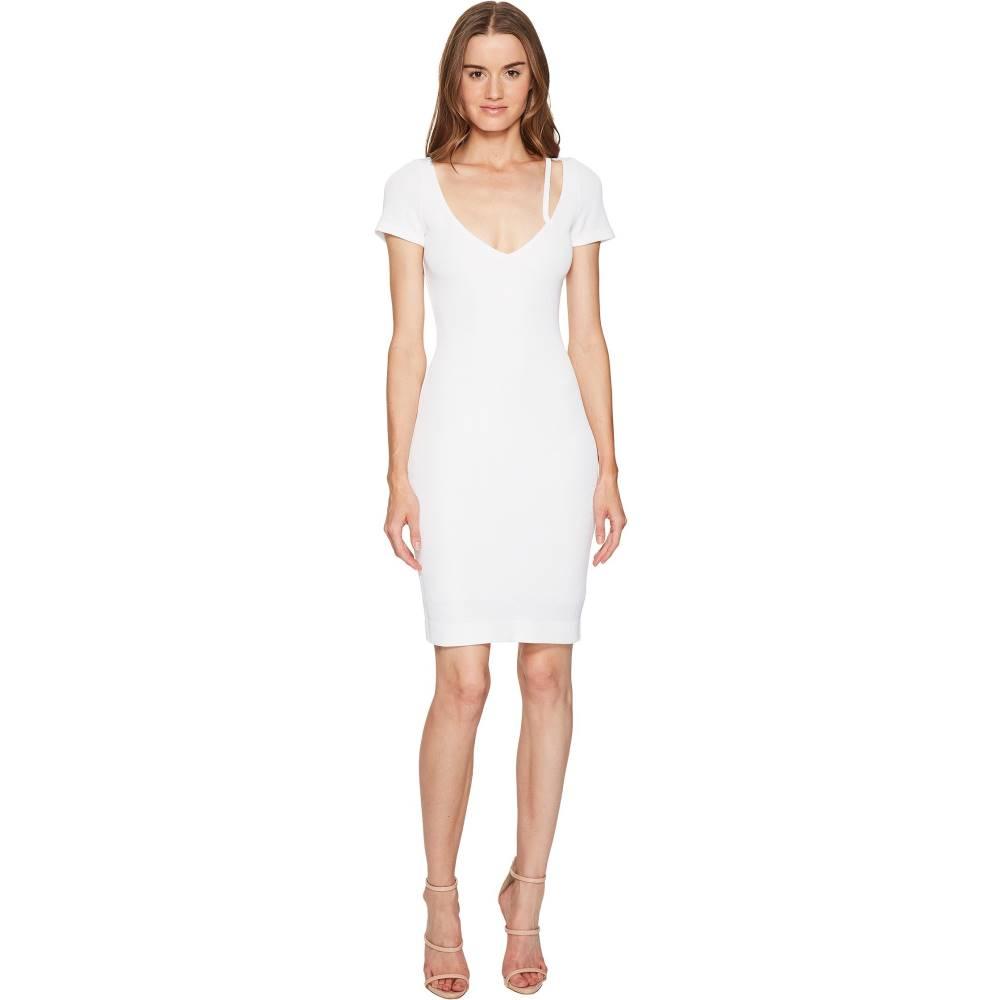 ディースクエアード レディース ワンピース・ドレス ワンピース【Textured Viscose Jersey Short Sleeve Dress】White