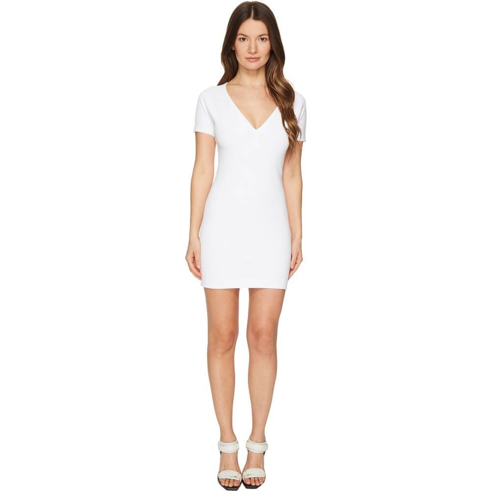 ディースクエアード レディース ワンピース・ドレス ワンピース【Viscose Piquet Jersey Short Sleeve Dress】White